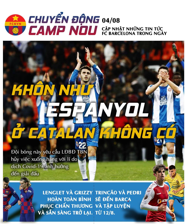[Chuyển động Camp Nou] ngày 4-8-2020