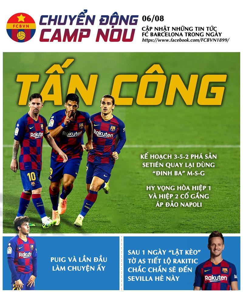 [Chuyển động Camp Nou] ngày 6-8-2020
