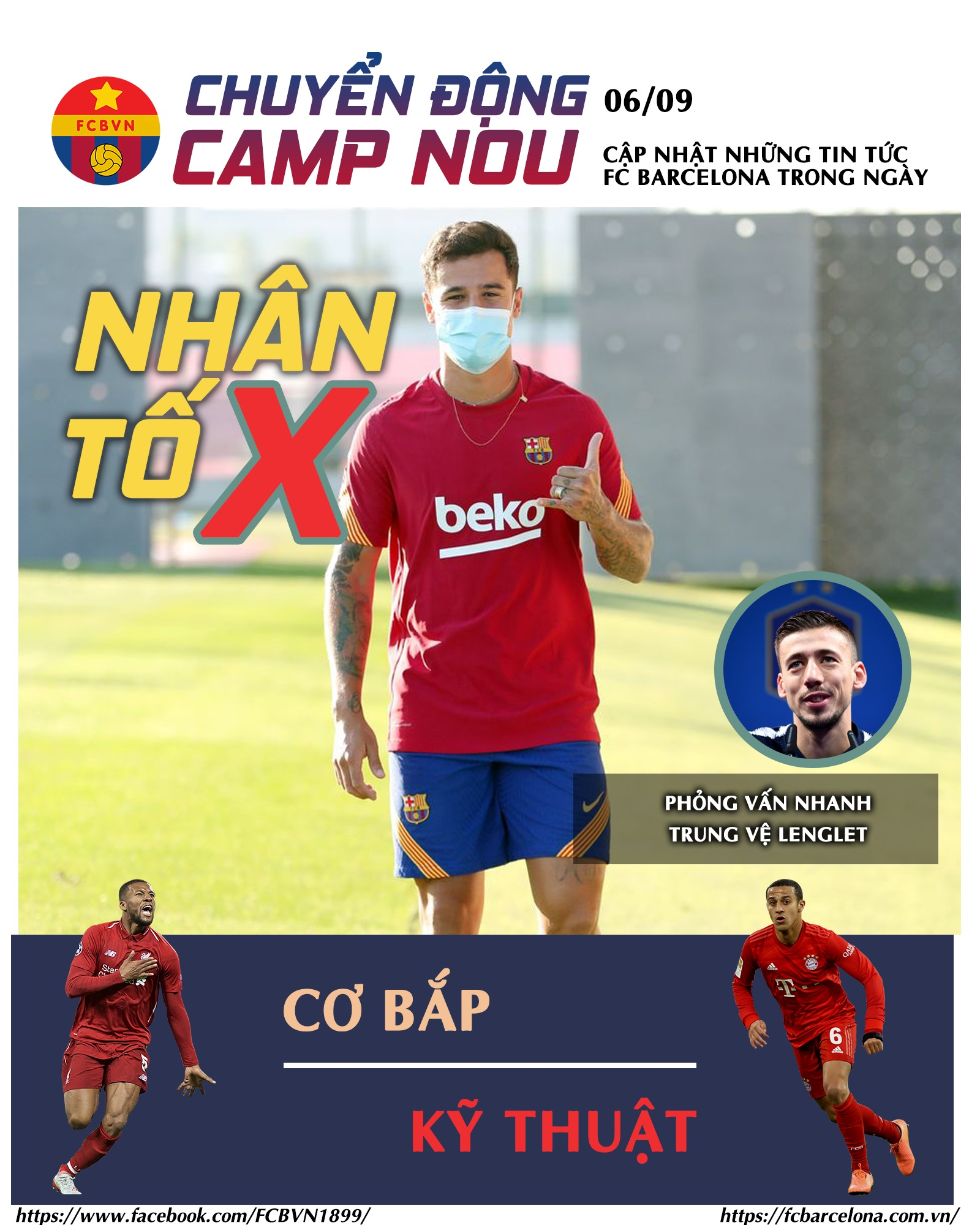 [Chuyển động Camp Nou] ngày 06-9-2020