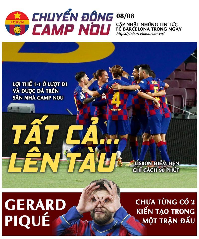 [Chuyển động Camp Nou] ngày 8-8-2020